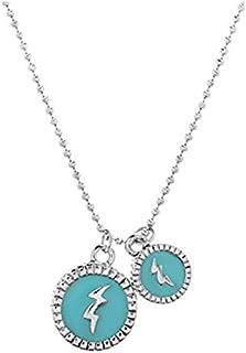 Steve Madden Women Alloy Rhinestone Pendant Necklace - SMN500301TQRH