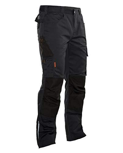 Jobman Workwear Arbeitshose 2321 für Herren, Bundhose mit vielen Taschen, Arbeitsbekleidung Männer mit Kniepolstertaschen in Schwarz, Größe 52