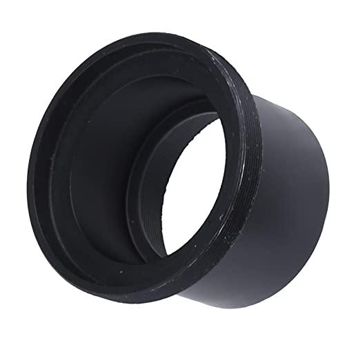 KUIDAMOS Objektivhalter, robust und zuverlässig Einfach zu tragen Einfach zu bedienen Bequeme Installation Schwarzer Kamera-Okular-Ring-Adapter für Mikroskop