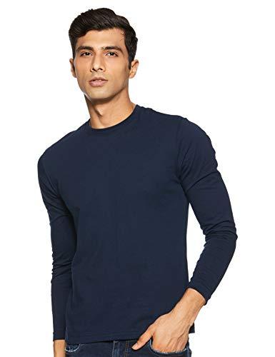 Jockey Men's Plain Regular fit T-Shirt (AM95_Navy XL)