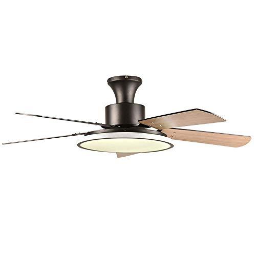 CLL Plafón moderno con ventiladores, ventilador de techo con luces y mando a distancia, ventilador invisible con iluminación para la habitación del salón