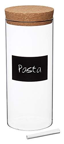 Kitchen Craft Natural Elements Pasta Recipiente Grande de Vidrio