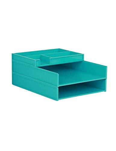 Aktemap voor bureau, File Cabinet, A4, kunststof, datakabinet, ladekast (design: 3 lagen)
