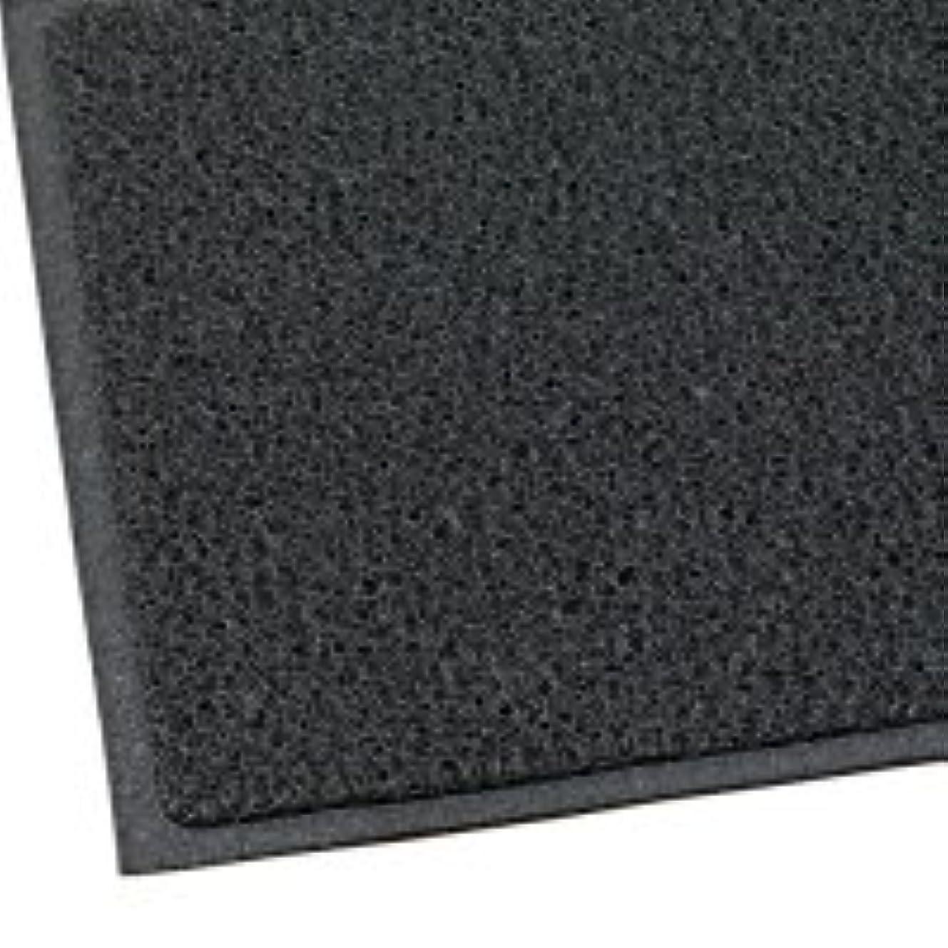 孤独な血色の良い想定するテラモト 玄関マット ケミタングルソフト 屋外用 900×1800mm ブラック 1枚