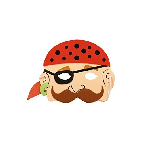 Party Pro 871199 Masque enfant Pirate EVA Costume de fête Multicolore