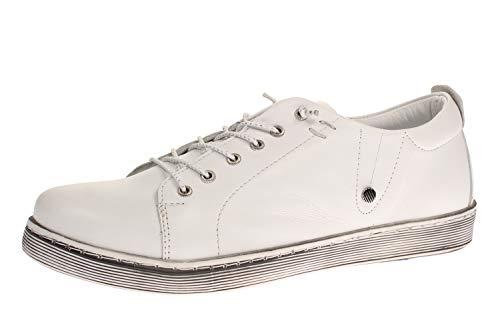 Andrea Conti 0347891001 - Damen Schuhe Freizeitschuhe - weiß, Größe:40 EU