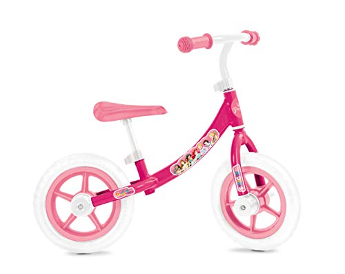 Mondo-28500 Princess Balance Bike, Color Blanco y Rosa, 28500