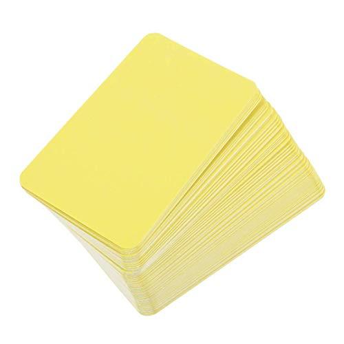 Dauerhaft Leere Word-Karte DIY Graffiti Papier Business Message Cards Student Schreibwaren Retro Office Schulbedarf für junge Mädchen, 08 gelb tragbar und nützlich