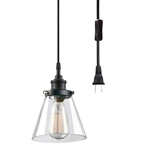 ZZT Luz del Colgante Industrial 4.5m Cable con Interruptor y tapante de la UE Lámpara de la lámpara de la Mesa de la Mesa de Comedor, lámpara de Colgante Negra de la Vendimia E27