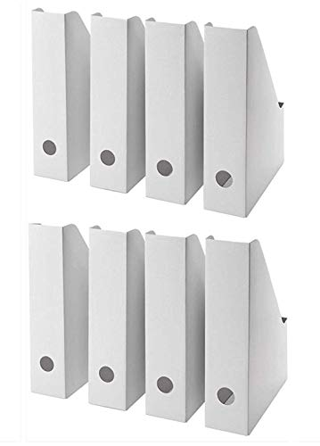 IKEA Fluns Zeitschriftensammler, Weiß, 8 Stück