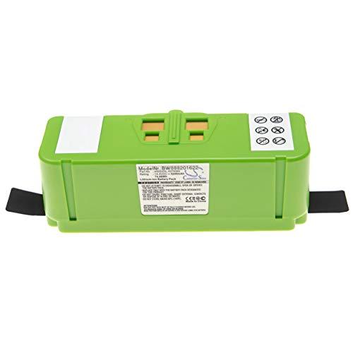 vhbw Batería compatible con iRobot Roomba 614, 615, 640, 652, 665, 670, 671, 675 aspiradora, robot de limpieza (5200mAh, 14,4V, Li-Ion)
