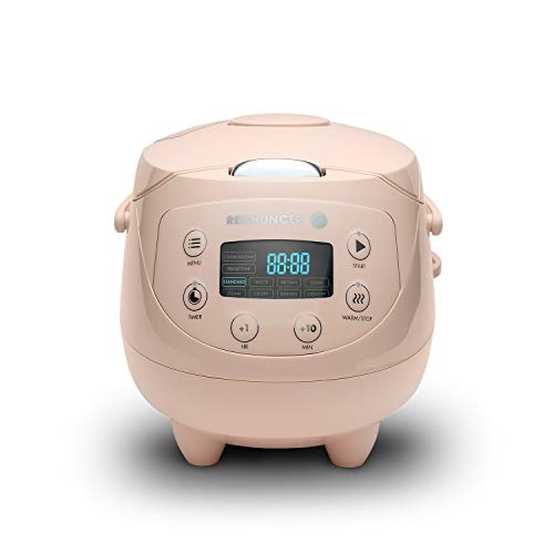 Digitaler Reishunger Mini Reiskocher und Dampfgarer in Pink - Warmhaltefunktion, Timer & Premium Topf - kleiner Multikocher, 8 Programme, 7-Phasen-Kochtechnologie, 1-3 Personen