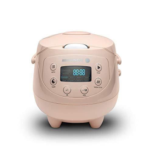 Digital Reishunger Mini cuociriso (0.6l/350W/220V) Multi-cucina con 8 programmi, tecnologia a 7 fasi, pentola interna...