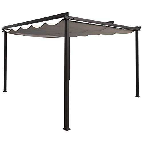 Charles Bentley 3M x 3M Premium Canopy Gazebo Awning Shade - Grey