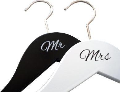 KATINGA Kleiderbügel Mr/Mrs für das Brautpaar - schönes Accessoire für die Hochzeit (Mr/Mrs)