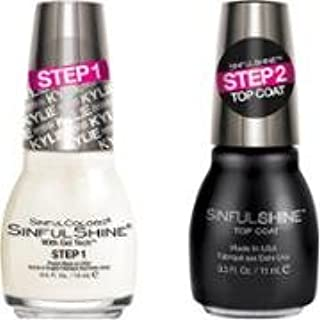 Sinful Shine Kylie Jenner King Kylie Collection Nail Polish Koko Nuts Bundle with Top Coat, 0.5 Fl Oz Each Bottle