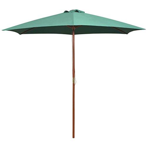 Tidyard Parasol de Plage Protection UV 180 cm Vert
