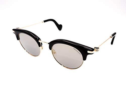 Moncler Unisex-Erwachsene ML0035 01A 47 Sonnenbrille, Schwarz (Nero Lucido/Fumo)