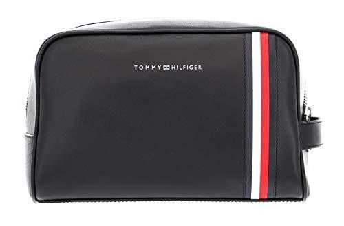 Tommy Hilfiger Fine Leather Washbag Black