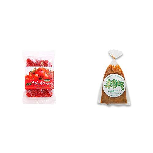 [2点セット] 収穫の朝 さくらんぼグラッセ ラム酒風味(180g)・辛唐みそ(130g)