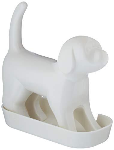 Slam 5060137380067 Spitzer Hund mit Sound, weiß