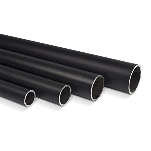 KLEMP Stahl Rundrohr Schwarz, Ø26,9mm x 2,35mm L: 500mm (50cm) | Konstruktionsrohr, Hohl - Profil