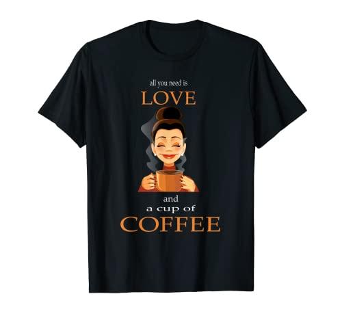 Te quiero café, amantes del café, café. Camiseta