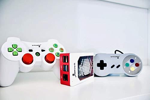 G-Arcade.it PICOCADE Mini Console Retrogaming + 2 Joypad WIRELESS + Scheda con emulazione Fino a 19.500 RetroGames (2 Joypad Analogici Wireless + Scheda NEW PLATINUM Pi4 (19.500 Giochi))