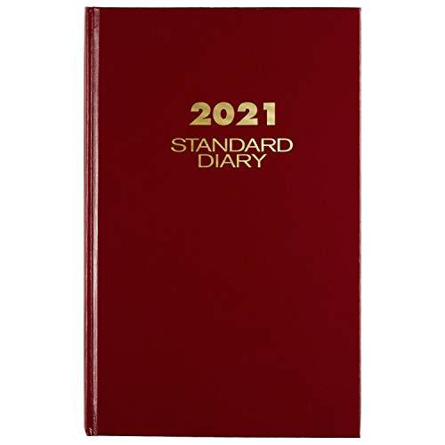 Agenda 2021 por AT-A-GLANCE, diario estándar, 19.6 cm x 12 pulgadas, grande, rojo (SD3761321)