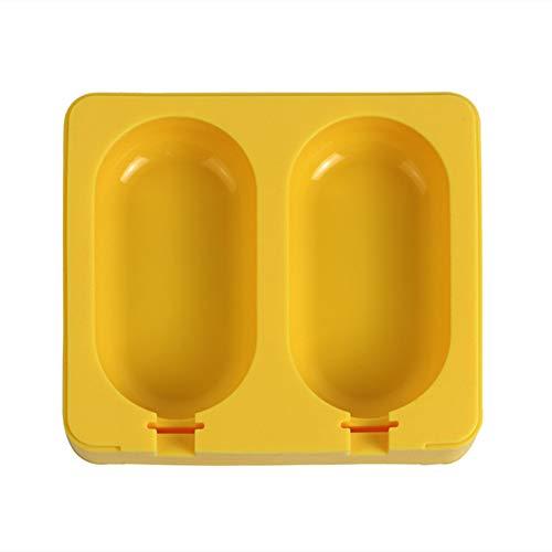 Cheaonglove Molde Helados Silicona Molde para Helados Moldes de Helado Grandes Hielo moldes Ice Lolly Molde de Silicona para Helado c,Yellow