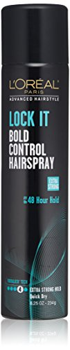 L'Oreal Paris Advanced Hairstyle Lock It Bold Control Hairspray 8.25 Ounce (Hair Products For Fine Hair In Humidity)