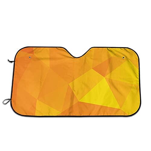 Parasol dorado con combinación triángulo para parabrisas de coche, parasol para ventana frontal, bloqueos de rayos UV, protector de visera para mantener tu vehículo fresco