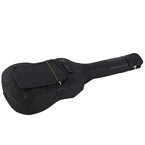 Bolsa para Guitarra Acústica, Bolsa Impermeable para Guitarra Acústica, Correas De Hombro Ajustables Dobles Y Dos Asas con Una Bolsa Exterior De Tela Oxford Impermeable para Guitarra