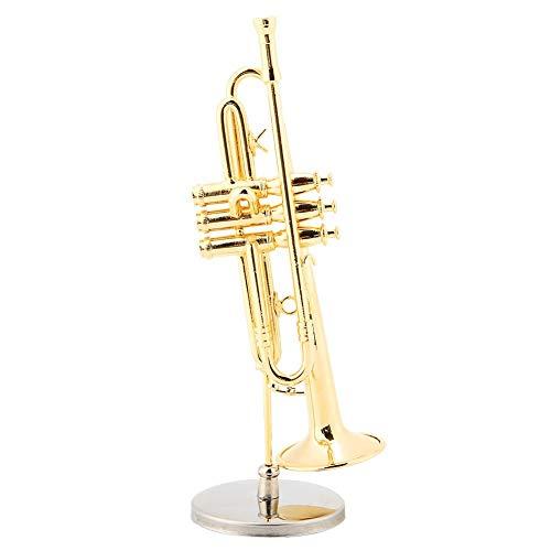 Zyyini Trompeta Miniatura, Mini Flauta Clarinete Saxofón Trombón Instrumento Musical Modelo Adornos Regalo y Decoración para Sus Niños o Músicos Amigos
