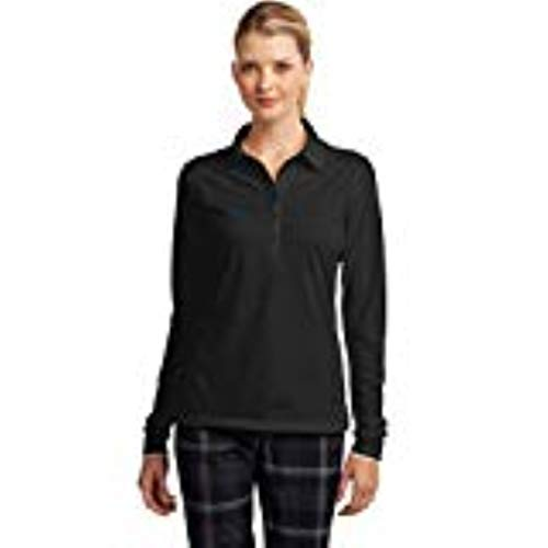 NIKE Golf Ladies Long Sleeve Dri-FIT Stretch Tech Polo. 545322 Anthracite M