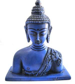 mytibetshop Buddha Head, Buddha Statue,Buddha Head for Home and Alter, Buddha Statue for Home, Small Buddha Statue, Handpainted by Himalayan Artisan in Nepal