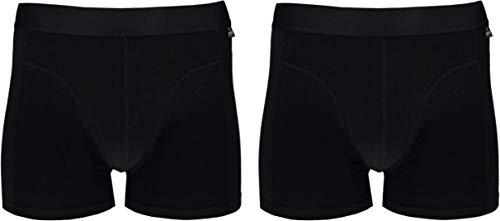 Lieblingsstrumpf24 2 Bio Baumwolle Boxershorts Herren Unterhosen Männer aus hochwertiger Baumwolle Unterhose Öko-Tex Standard 100 (Schwarz, M)