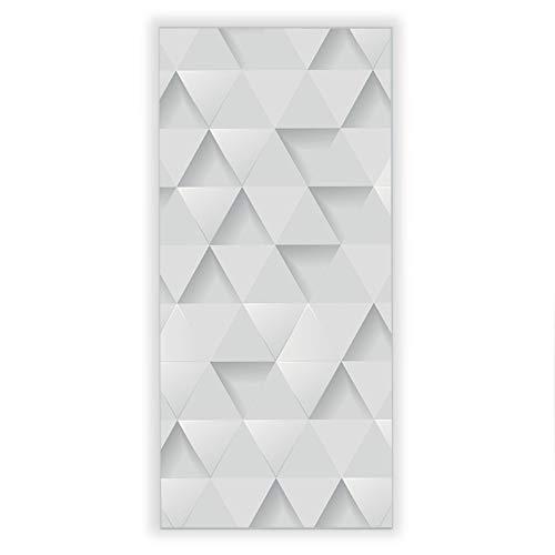 Banjado Wechselscheibe für IKEA GYLLEN Wandlampe | Glasscheibe für Wandleuchte 56x26cm | Echtglas Motiv Weisse Dreiecke | Hochformat