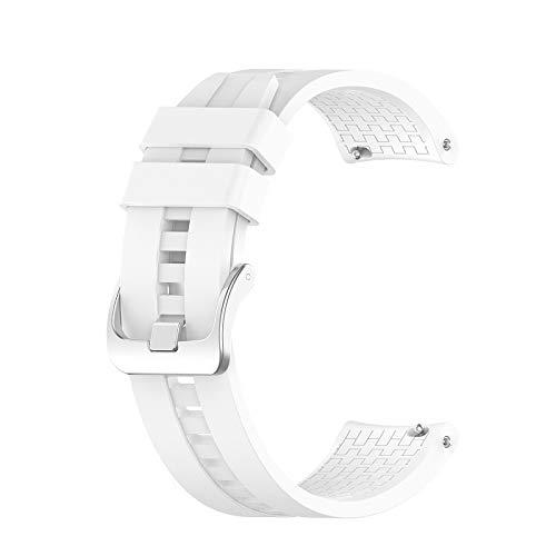 DLCYMY Correa de muñeca de 22 mm para Huawei Watch GT GT2 de 42 mm y 46 mm, correa de reloj inteligente, correa deportiva (color de la correa: blanco, ancho de la correa: para GT2 de 46 mm)