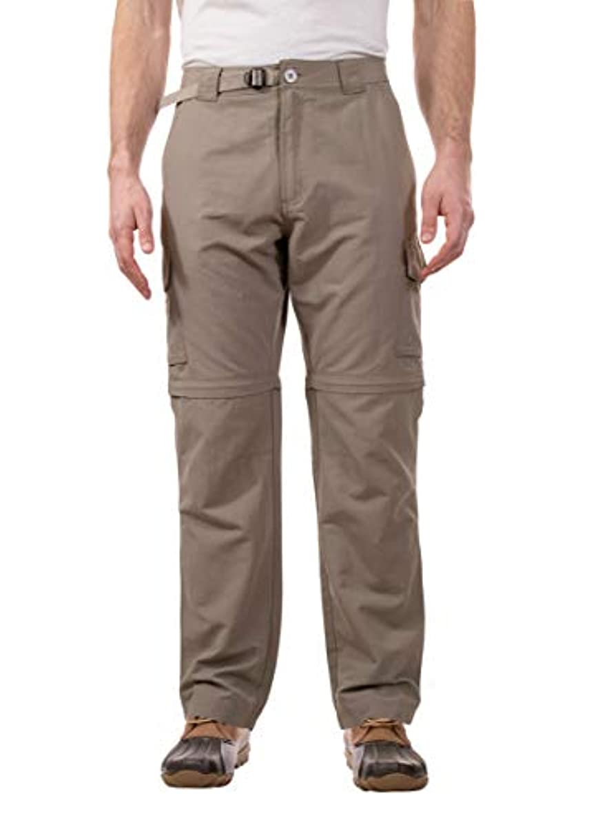 Swiss Alps Mens UPF 30+ Sun Protection Multi Pocket Convertible Pants