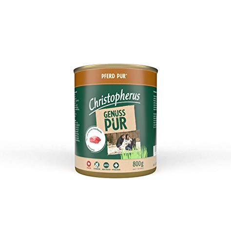 Christopherus PUR, Pferd, Vollnahrung für Hunde, Nassfutter, 6 x 800 g