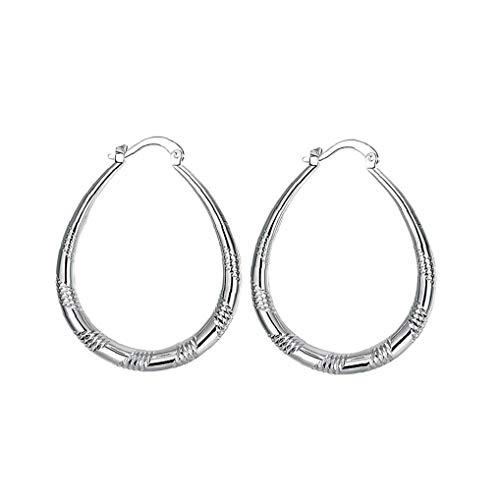 ZYCX123 1 Diseño clásico de Pares de aretes Ronda Fantasía Perforado oído Pendientes círculo de la Manera Loops joyería para Las Mujeres de Chicas de Plata de Regalos para la Familia