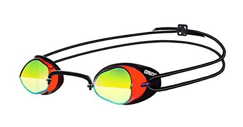 arena Swedix Mirror Gafas de Natación, Unisex Adulto, Rojo (Red / Yellow),...