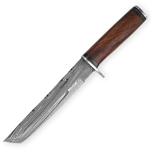 Benutzerdefinierte handgemachte damast Jagdmesser , beide Klinge
