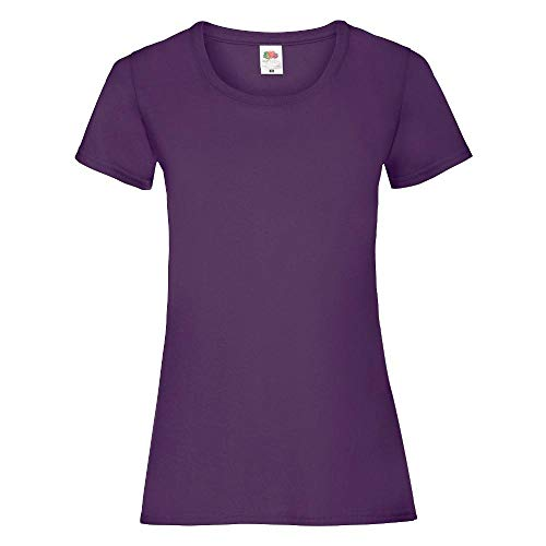 Fruit of the Loom - Lady-Fit Valueweight T - Modell 2013 XXL,Purple