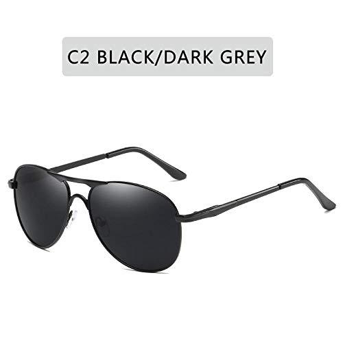 Gafas De Sol Hombres Gafas De Sol Polarizadas Clásicas Gafas De Sol Clásicas Lente De Revestimiento Gafas De Conducción para Mujeres Gafas Masculinas Gafas De Sol con Personalidad De Moda-C2