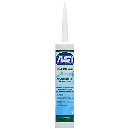 Black Aquarium Silicone Sealant - 10.2 Fluid oz Cartridge