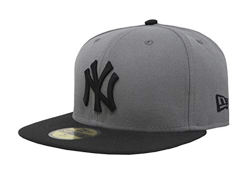 New Era 59Fifty Hat New York Yankees MLB Basic Storm Gray/Black Fitted Cap (7 1/4) (7 1/4)