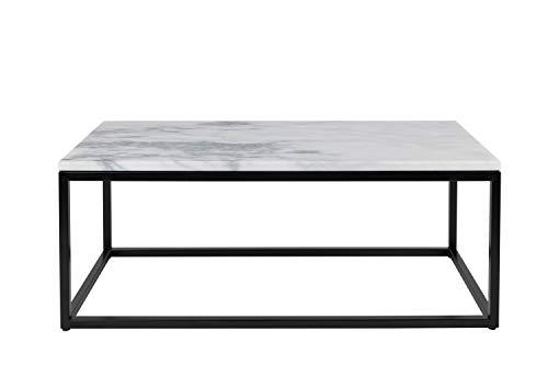 Zuiver Wohzimmertisch Marble Power, weiß, 90 x 40 x 35 cm