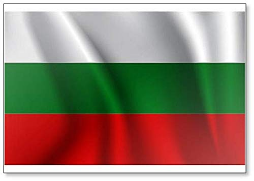 Kühlschrankmagnet mit winkender Flagge Bulgariens